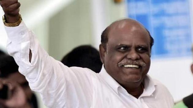 Former Calcutta high court judge C S Karnan has been arrested by the Central Crime Branch of Chennai Police.(PTI Photo)