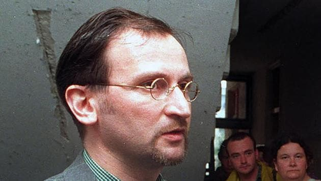 FILE - In this file photo dated Saturday, May 2, 1998, Jozsef Szajer, vice-president of the Fidesz Hungarian Civic Party, talks to the media. Hungarian member of the European Parliament Jozsef Szajer on Tuesday Dec. 1, 2020, admitted to being among those present at an illegal party broken up by Belgian police in central Brussels last week, amid press reports he took part in a COVID-19 lockdown sex orgy. (AP photo/Tibor Rozsahegyi, FILE)(AP)