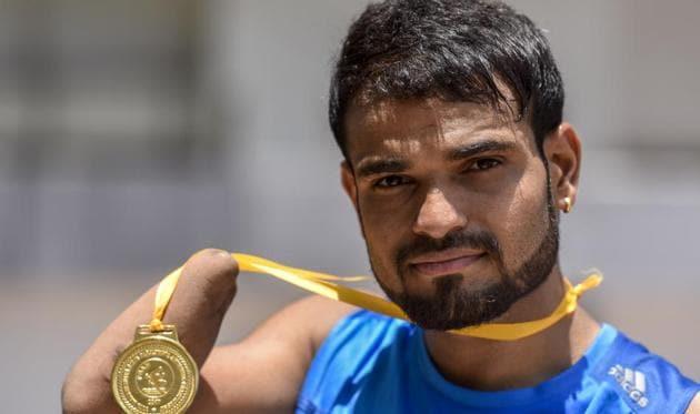 Paralympics swimmer Suyash Jadhav(Kunal Patil/HT Photo)
