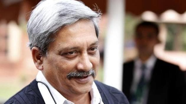 Manohar Parrikar had opposed the railway line doubling project during the UPA rule at the Centre.(Hindustan Times)