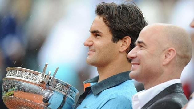Andre Agassi and Roger Federer(Getty Images)