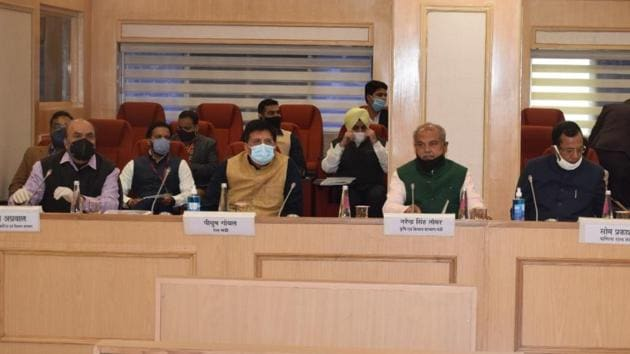 Meeting underway at Vigyan Bhawan, New Delhi, on November 3.(HT photo)
