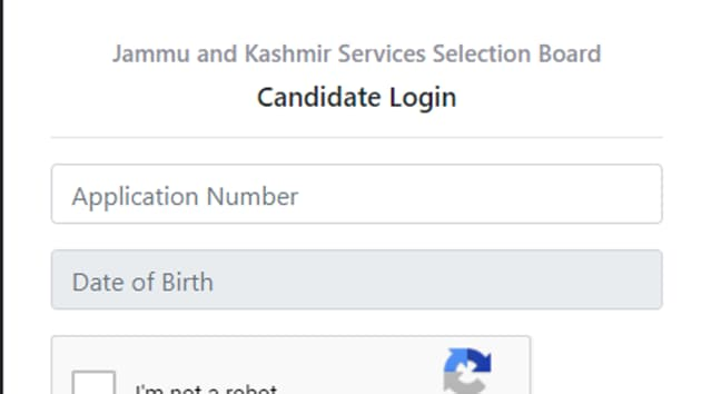 JKSSB admit card 2020 for junior scale stenographer, assistant, and others.(Screengrab)