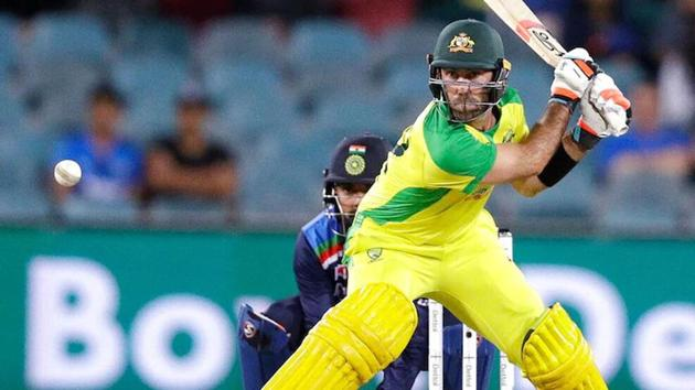 Glenn Maxwell lines himself up for the Switch Hit(AP Photo)