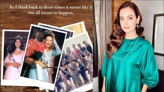 Dia Mirza turns emotional as she relives winning Miss Asia Pacific title 20 years ago(Instagram/diamirzaofficial)
