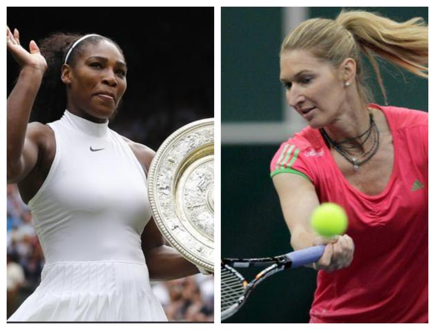 FIle image of Serena Williams and Steffi Graf.(HT Collage/Reuters)