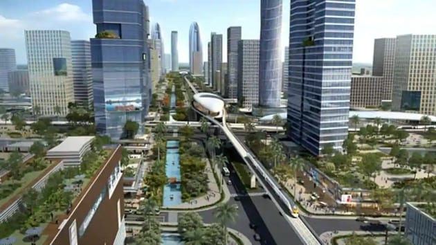 A computer-generated image of what Amaravati would have looked like.(AP Govt)