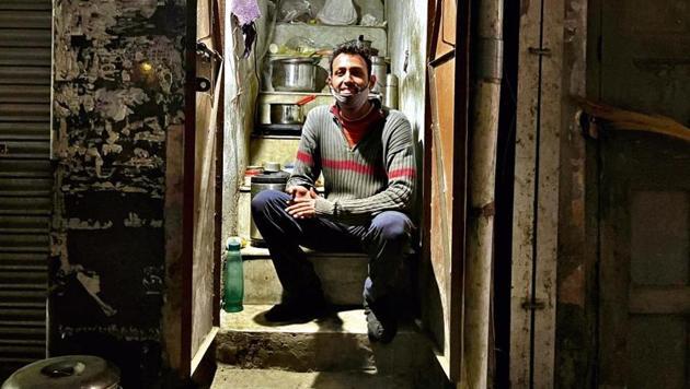 Pursuing his grad studies through correspondence, Mr Kakar opens the shop every day around 9.30am.(HT photo)