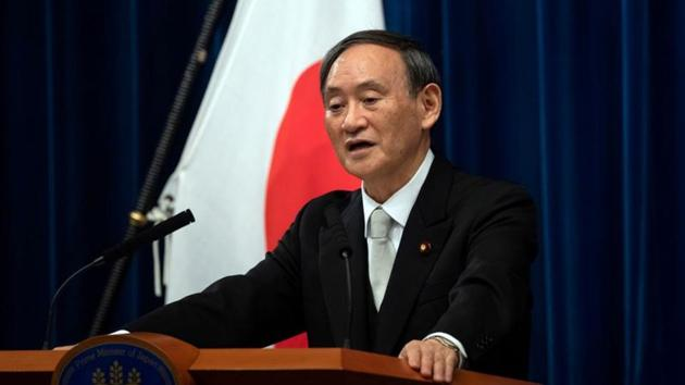 Japan's Prime minister Yoshihide Suga pledged in October that Japan would slash carbon emissions to zero on a net basis by 2050.(Reuters)