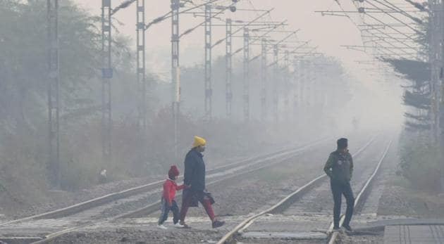Mohamadpur railway station near Dwarka, in New Delhi on November 22.(HT file photo)