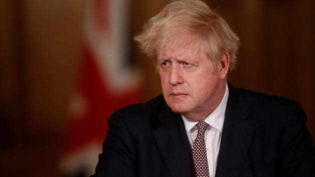 Britain's Prime Minister Boris Johnson urged people to follow the Covid Winter Plan of tiered lockdown which is now in force across England, with a majority of areas still under high alert measures of social distancing.(Reuters)