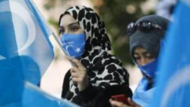 """A sizeable Muslim population in Xinjiang has been incarcerating in an expanding network of """"political re-education"""" camps, according to US officials and UN experts.(AP file photo)"""