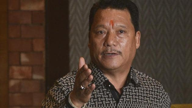 Gorkha Janmukti Morcha (GJM) leader Bimal Gurung is scheduled to address rally in Siliguri on Sunday.(HT PHOTO)