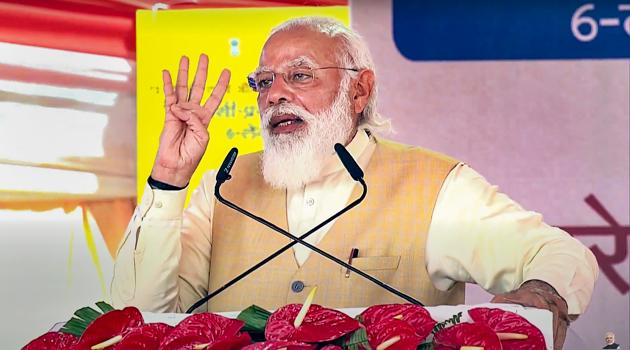 PM Modi will address an all-party meeting on Friday to discuss Covid-19 situation.(PTI)