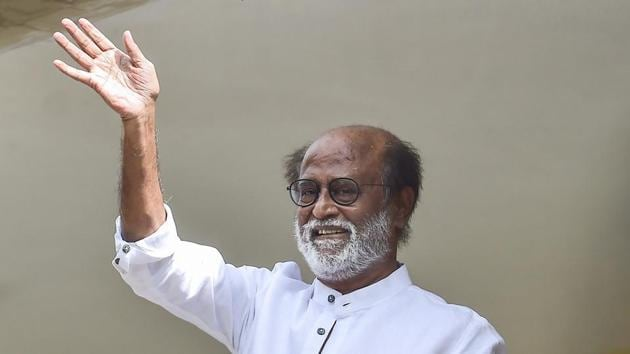 Actor-turned-politician Rajinikanth after meeting with the senior RMM functionaries , in Chennai on November 30.(File photo)