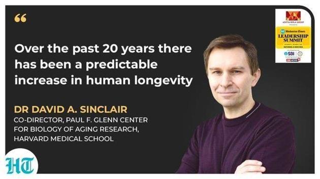 Harvard expert Dr David Andrew Sinclair.(HT Photo)