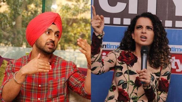 Actors Kangana Ranaut and Diljit Dosanjh had a heated exchange of words on social media on Thursday.