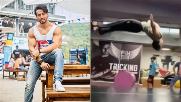 Tiger Shroff's double backflip will instantly push you to amp up your fitness goals(Instagram/tigerjackieshroff)