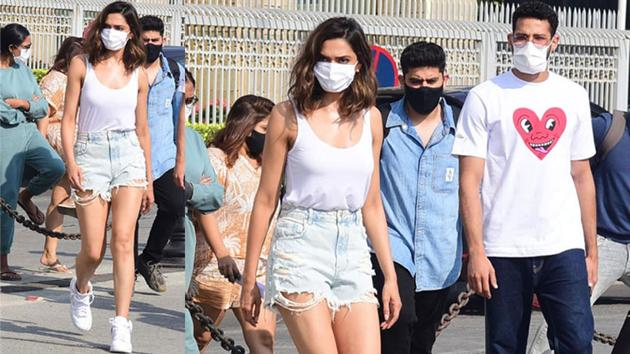 Deepika Padukone is regularly spotted at Gateway of India as she takes a ferry to reach Alibaug. She is often accompanied by co-star Siddhant Chaturvedi.
