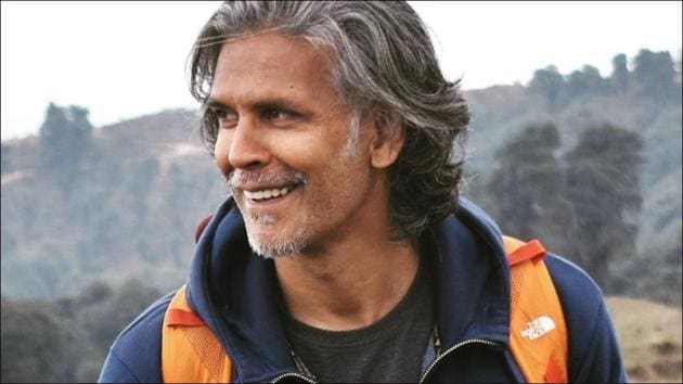 Milind Soman makes jaws drop as he nails a headstand in the backdrop of Mount Everest(Instagram/milindrunning)