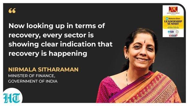 Union finance minister Nirmala Sitharaman.(HT photo)