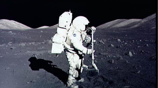 The firms will collect a small amount of lunar regolith and transfer the collected material to NASA.(AFP)