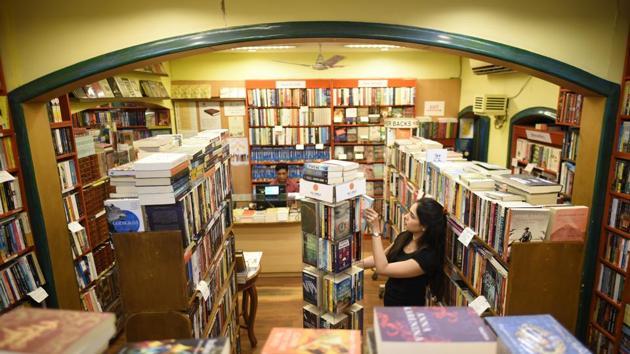 Full Circle Book Store in its former glory at Khan Market.(PHOTO: Burhaan Kinu/HT)