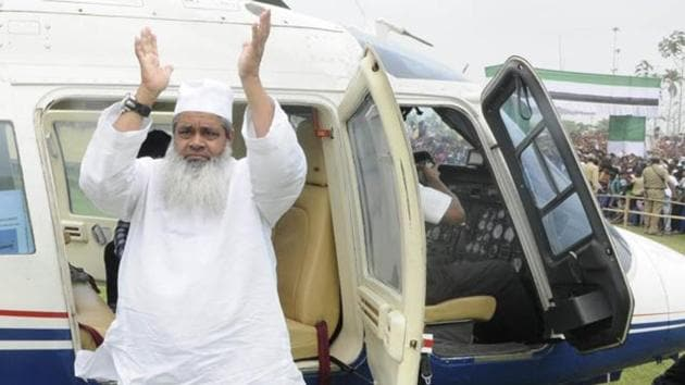 Badruddin Ajmal heads the All India United Democratic Front.(HT FILE PHOTO)