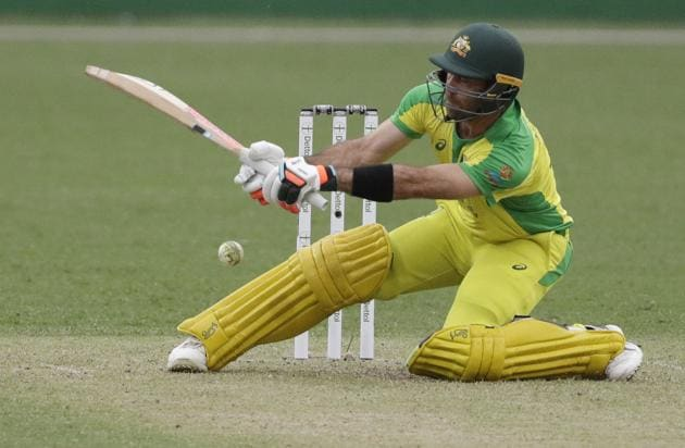 Australia's Glenn Maxwell during the one day international cricket match between India and Australia at the Sydney Cricket Ground in Sydney, Australia.(AP)