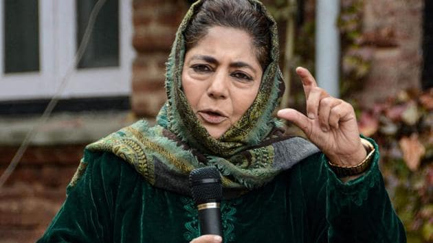 Former chief minister of Jammu and Kashmir and PDP chief Mehbooba Mufti.(File photo)