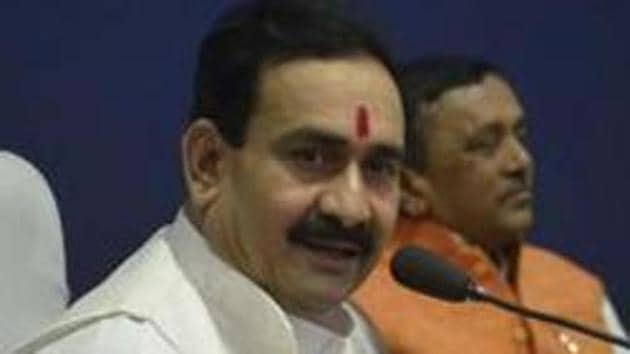 Madhya Pradesh home minister Narottam Mishra.(Mujeeb Faruqui/HT)