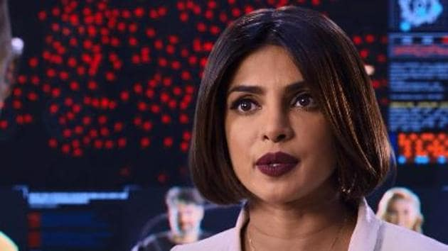 Priyanka Chopra in a still from the We Can Be Heroes trailer.