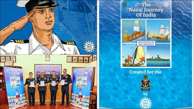 Comic series chronicling India's maritime heritage launched on Navy Day(Twitter/ACKComics)