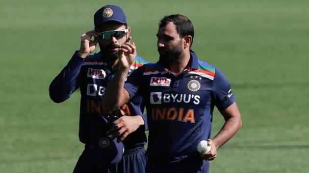 Photo of Indian pacer Mohammed Shami and captain Virat Kohli(Twitter)