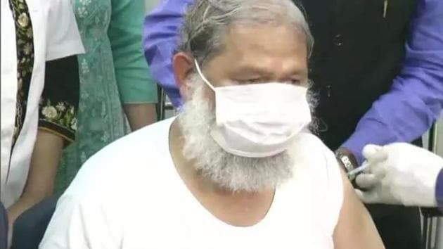 BJP leader Anil Vij has tested positive for Covid-19.(Twitter/ANI)