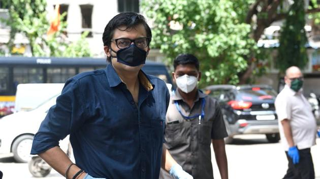 Alibag police arrested Arnab Goswami and two other accused on November 4 from their residences in Mumbai.(HT FILE PHOTO)