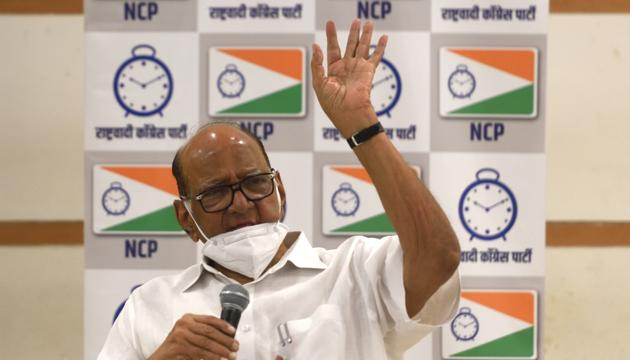 NCP and Shiv Sena leaders have played down Pawar's remarks on Rahul Gandhi's leadership, saying they have no connection with the stability of the three-party state government.(Satish Bate/HT File Photo)