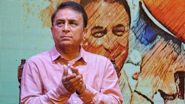 Cricket legend Sunil Gavaskar during a felicitation ceremony for his contribution to cricket, in Kolkata.(PTI)