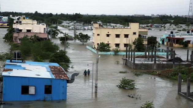 Nivar, which ravaged at least 18 coastal districts, had caused widespread damage to crops and property, when it crossed the coast between Puducherry and Tamil Nadu on November 26.(ANI)