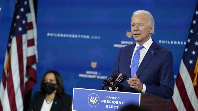 The underlying approach in Biden's remarks was consistent with what his aides were saying even before his victory(AP)