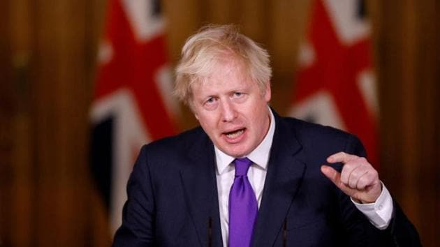 Britain's Prime Minister Boris Johnson speaks during a news conference.(Reuters/ File photo)