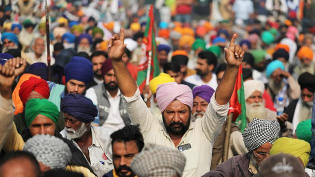 Delhi's border points remained choked as thousands of farmers from Haryana, Punjab, and other states are holding demonstrations for the tenth consecutive day, today.(REUTERS)