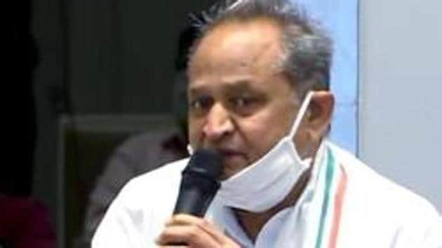 Rajasthan chief minister Ashok Gehlot on Saturday blamed the BJP for trying to topple his government.(ANI file photo)