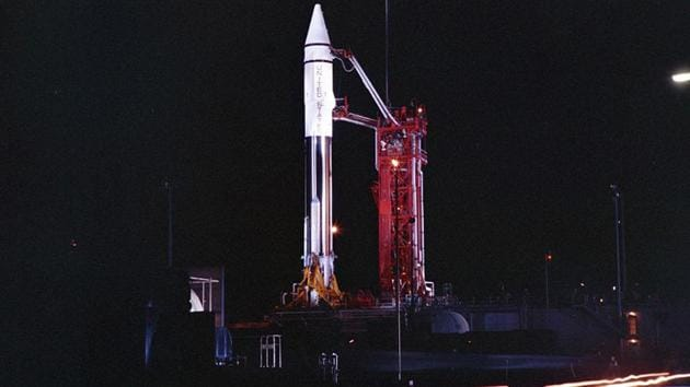 This picture from shows an Atlas Centaur 7 rocket and was taken in 1966.(AP)