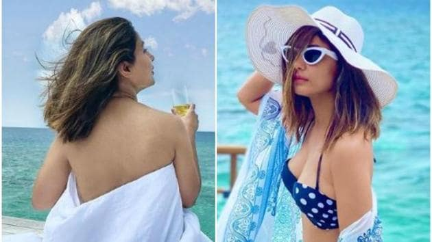 Hina Khan has been sharing pictures from her Maldives vacation.