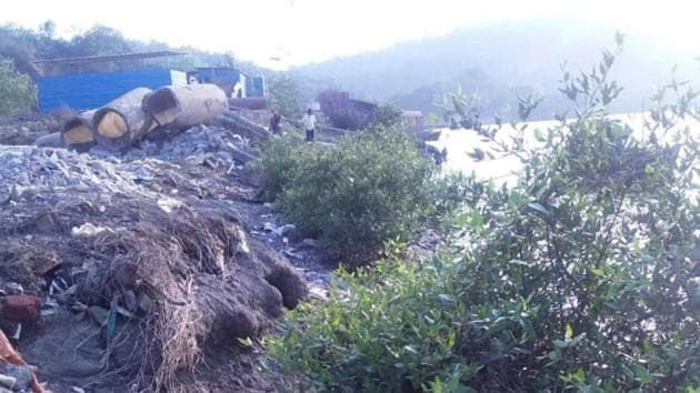 According to the notice, Gaimukh was one of the sites where the debris were dumped for the project.(HT)