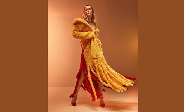 A fringed long coat by Daniel Lee