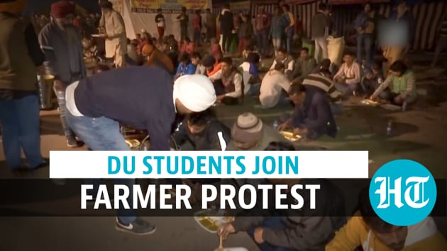 Students from Delhi University joined protesting farmers at Singhu border on December 5. Students have been providing help to the protesting farmers at Delhi-Haryana border. They engage in various tasks such as serving food, making posters and providing medical aid. Talks between the government and protesting farmers remained inconclusive on Dec 5 after five rounds of discussions as union leaders stuck to their demand for the repeal of the new farm laws. Another round of discussion has been scheduled for December 9. Farmers also said that protest will continue & Bharat Bandh on Dec 8 will be observed. Watch the full video for more.