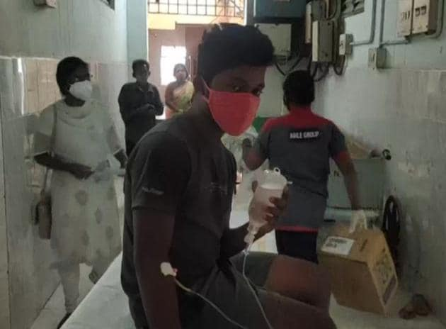 People belonging to various age groups have been admitted to hospital after they complained of nausea, dizziness, fainting — symptoms that are staying for 10 to 15 minutes. (Photo: ANI)