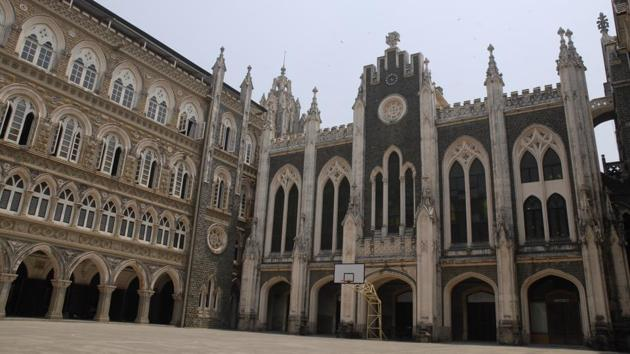 The highest cut-off for arts stream was recorded at St Xavier's College in Fort at 94.6%.(HT FILE)
